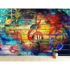 Colore Et Musical Papier Peint Photo Applique