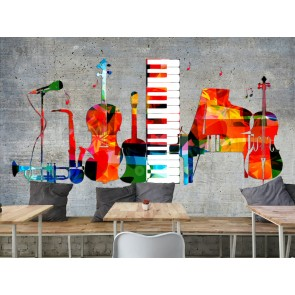 Instruments Colores Papier Peint Photo Applique