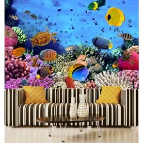 Aquarium papiers peints photo appliqué sur le mur