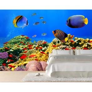Poisson coloré tapisserie murale