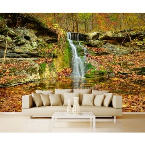 Petite cascade papiers peints photo 3D appliqué sur le mur