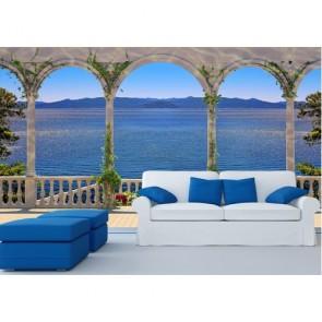 Terrasse tapisserie murale