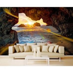 Grotte de sable tapisserie murale