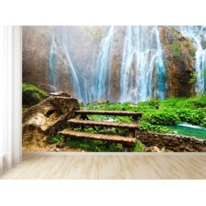 Vue sur la cascade decoration murale appliqué sur le mur