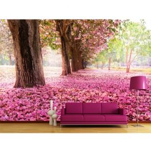 fleurs de cerisier papiers peints photo appliqué sur le mur