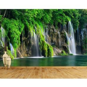 Peinture de la cascade papiers peints photo 3D appliqué sur le mur