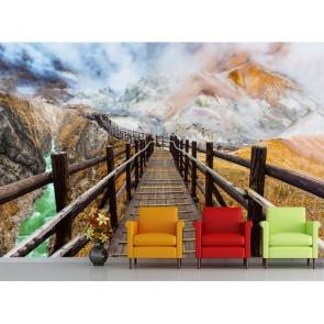 Grand pont papiers peints photo appliqué sur le mur