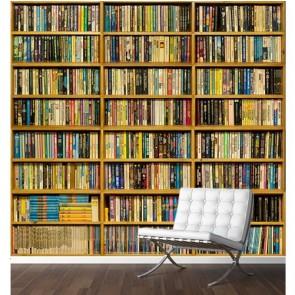 Étagère à livres papier peint 3d appliqué sur le mur