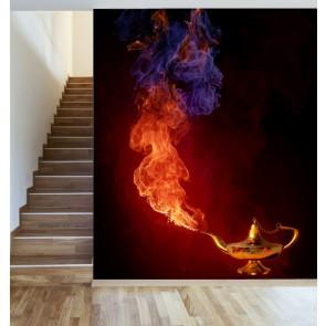 Lampe magique papier peint appliqué sur le mur