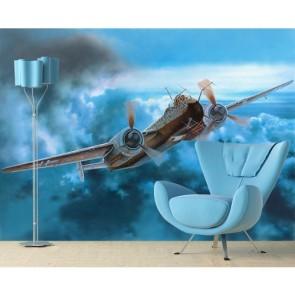 Pilote tapisserie murale appliqué sur le mur