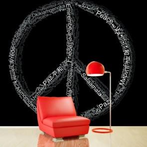 Paix dans votre discours papier peint appliqué sur le mur