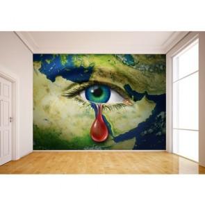 Du sang et des larmes papier peint 3d appliqué sur le mur