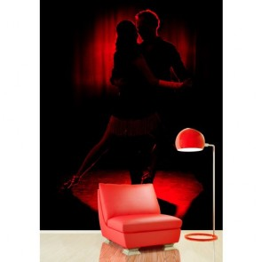 Danse rouge papiers peints photo 3D appliqué sur le mur