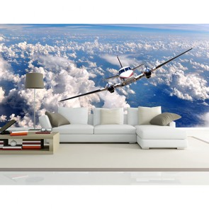 Avion Selfie tapisserie appliqué sur le mur