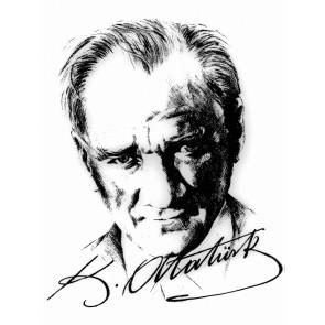 Portrait D'ataturk Avec Signature