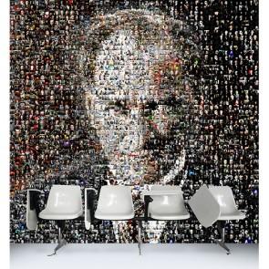 Portrait en mosaïque d'Ataturk tapisserie murale