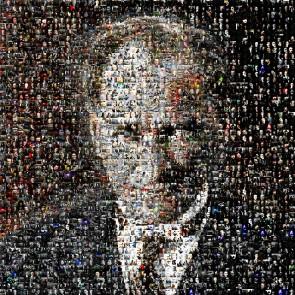 Portrait En Mosaïque D'ataturk