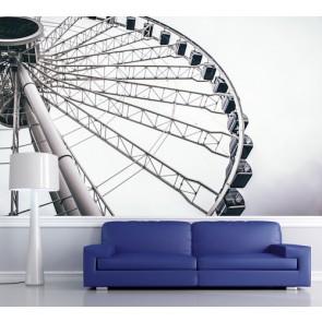 grande roue tapisserie appliqué sur le mur