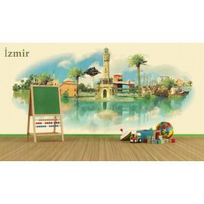 Peinture d'Izmir tapisserie murale