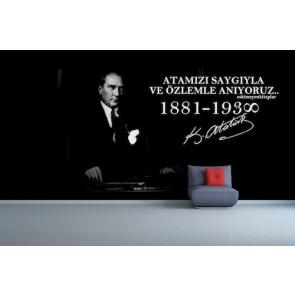 Nous nous souvenons d'Atatürk papier peint appliqué sur le mur