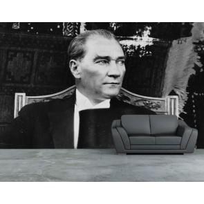Photo nostalgique d'Atatürk tapisserie appliqué sur le mur