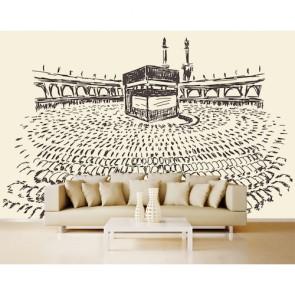 Charbon Kaaba papier peint appliqué sur le mur