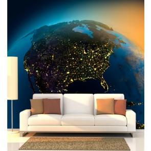 L'Amérique de l'Univers papiers peints photo 3D appliqué sur le mur