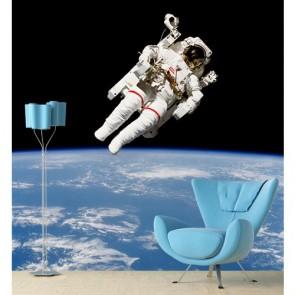 Astronaute tapisserie appliqué sur le mur