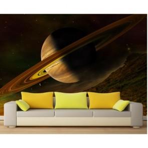 Saturne papier peint 3d appliqué sur le mur