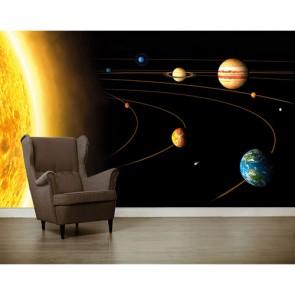 Du soleil aux planètes tapisserie appliqué sur le mur