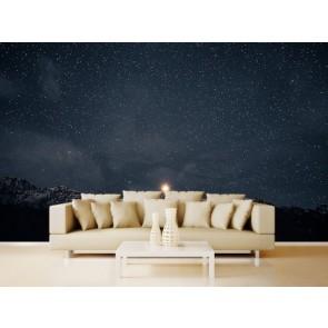 Profite de la nuit tapisserie appliqué sur le mur
