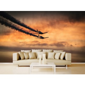 Danse des avions decoration murale appliqué sur le mur
