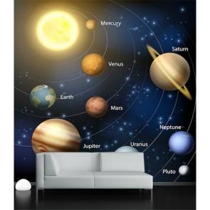 Arrangement des planètes decoration murale appliqué sur le mur