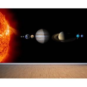 Système solaire papiers peints photo appliqué sur le mur