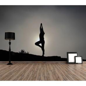 Yoga et étirement papiers peints photo appliqué sur le mur