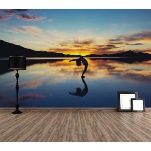Yoga et paix papiers peints photo 3D appliqué sur le mur