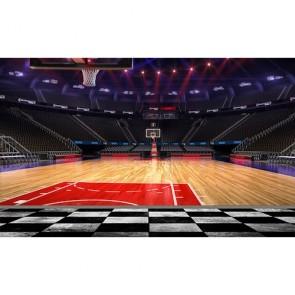 Terrain de basketball papiers peints photo 3D appliqué sur le mur