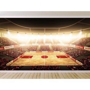 Stade de basket papier peint appliqué sur le mur