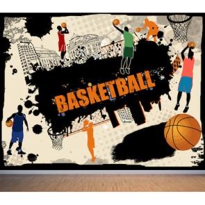 Basketball tapisserie appliqué sur le mur
