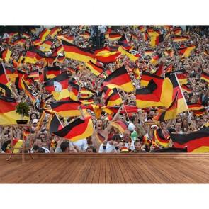 Allemagne Fans de football tapisserie appliqué sur le mur