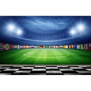 Stade de football papier peint 3d appliqué sur le mur