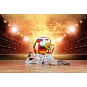Nous aimons le football tapisserie appliqué sur le mur
