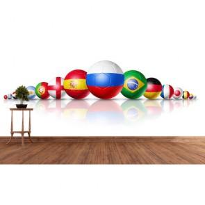 Coupe du monde de football tapisserie murale appliqué sur le mur