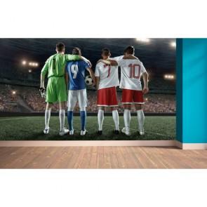 Équipe de football papier peint 3d appliqué sur le mur