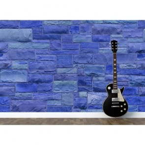 Mur de pierre bleue papiers peints photo 3D