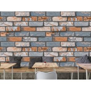 Briques naturelles papiers peints photo 3D appliqué sur le mur
