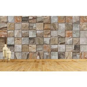 Pierres carrées decoration murale appliqué sur le mur