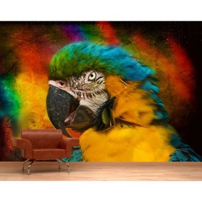 Perroquet insidieux papier peint 3d