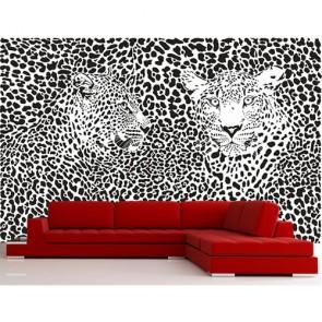 Léopard tapisserie murale appliqué sur le mur