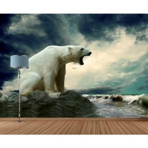 Réchauffement climatique papier peint appliqué sur le mur